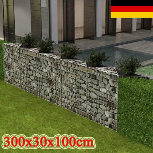 Gabionenkorb Pflanzkasten Steinkorb Gabionen Wand Mauer Gemüse-Hochbeet
