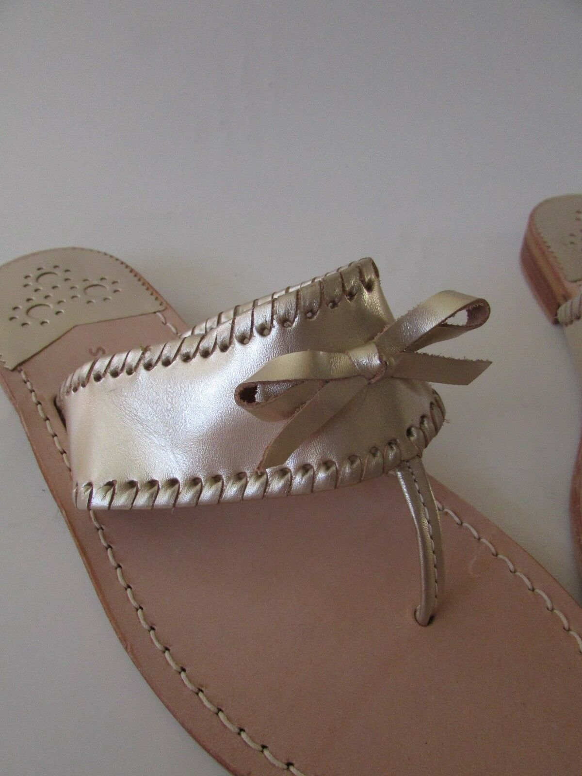 Jack Rogers ADELINE oro Bow Leather Sandals Sandals Sandals Sz 6, 6.5 115605