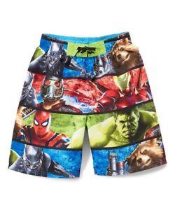 c2e21ba530 Image is loading Toddler-Marvel-Avengers-Infinity-War-Swim-Trunks-Choose-