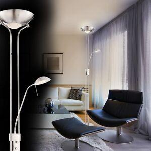 Dettagli su Lampada a stelo piantana lampada da terra LED design soggiorno  dimmer new 129434