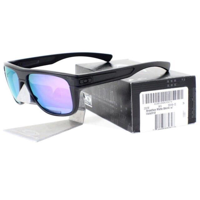 6a6b827c3f Oakley OO 9199-02 BREADBOX Matte Black Ink Violet Iridium Mens Sports  Sunglasses