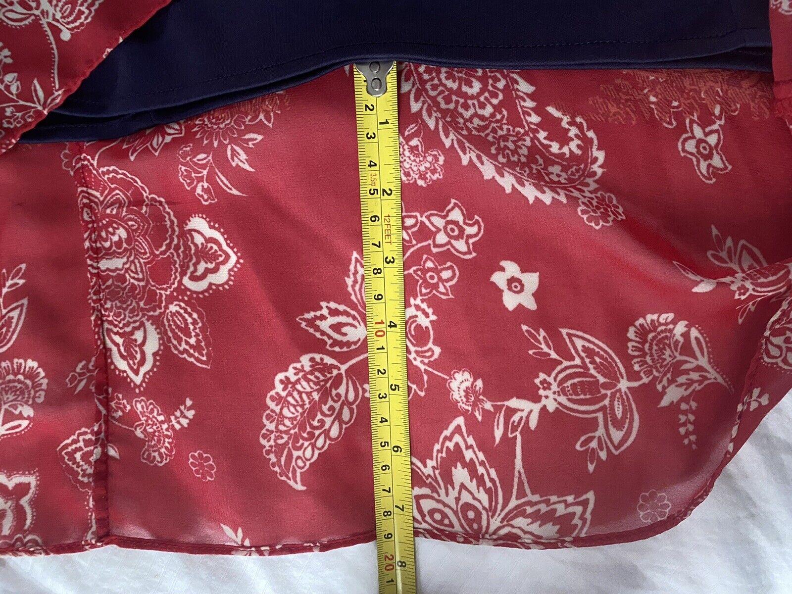 Cb Established 1962 Dress Sz 10 Red & Blue Sheer … - image 6