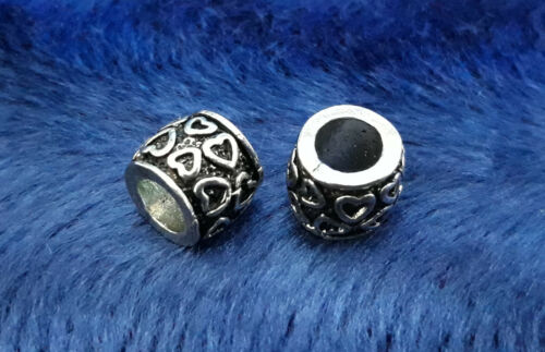 5//10//15 cœur Rondell Beads großloch Perles Paracord Bracelet großloch Perles h39