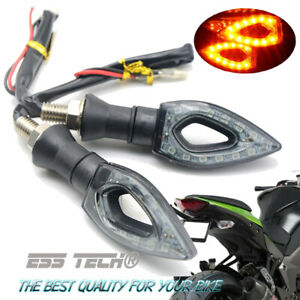 Clignotant-moto-Scooter-clignotant-LED-12-indicateur-SMD-puces-lumiere-orange
