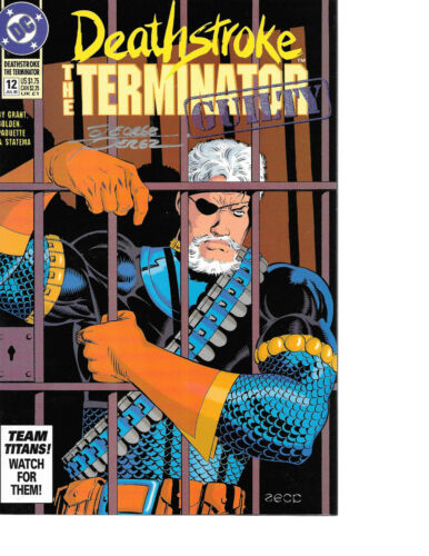 Deathstroke the Terminator #12 signed by George Perez NM COA INCLUDED