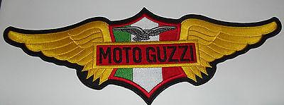 Moto Guzzi embroidered cloth back patch.