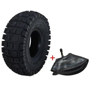 3.00-4 Scooter Tire Tyre and Tube for Pocket ATV 3.00 4 (10''x3'', 260x85) su0