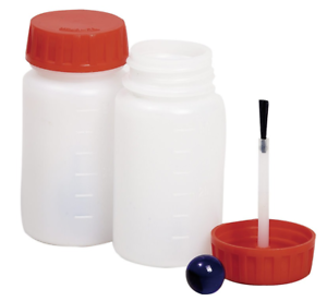 Kit 20 BARATTOLINI 50 ml Contenitore CON PENNELLO E SFERA Vuoto Chiusura PUSH
