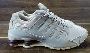 8a9ff2ef522c NIKE Shox NZ Women s Running Shoes Size 10 Grey Purple 314561-102
