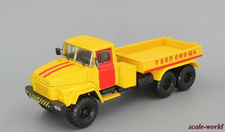 KrAZ-260V ballast tractor Technical assistance. Scale model of car 1 43