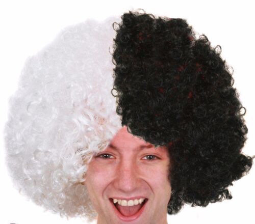 Crazy Curly Afro Wigs Football Supporter Accessory Rugby Sports Event FancyDress