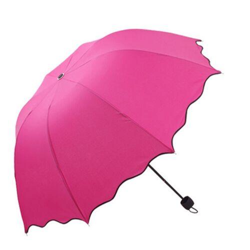 Windproof Flouncing Folding Lotus Leaves Princess Dome Parasol Sun//Rain Umbrella