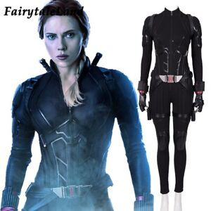 Avengers Endgame Black Widow Cosplay Costume Natasha Romanoff Jumpsuit Outfit Ebay