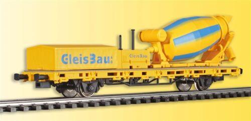 Viessmann 2624 Spur H0 Niederbordwagen mit Betonmischer GleisBau #Neu in OVP#