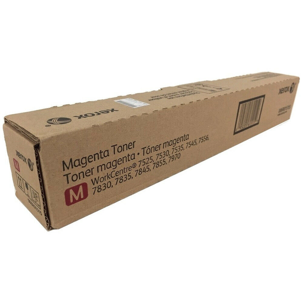 7530 7970 7556 7545 7535 Magenta Works with: WorkCentre 7525 On-Site Laser Compatible Toner Replacement for Xerox 006R01511