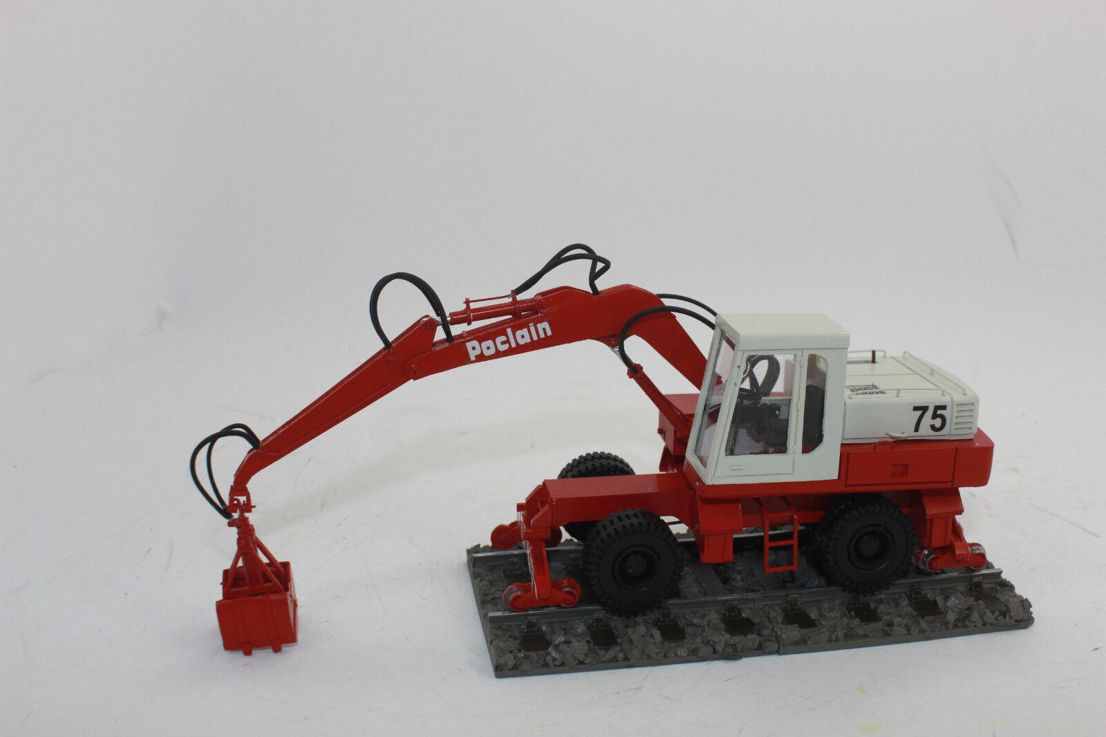 WM 50041 POCLAIN 75 due vie Escavatore mobile Escavatore 1 50 NUOVO con OVP