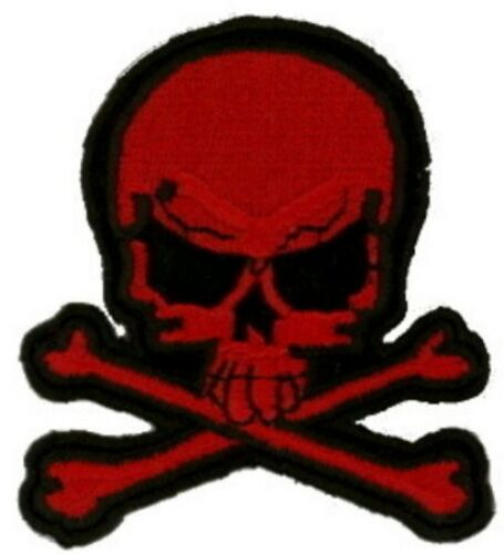 """3 Pcs Pirate Skull//X Embroidered Patches 3/""""x2.75/"""" iron-on BR"""