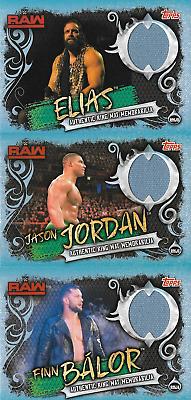 Elias Finn Balor Jason JORDAN Topps WWE SLAM ATTAX Live Anneau Mat Memorabilia