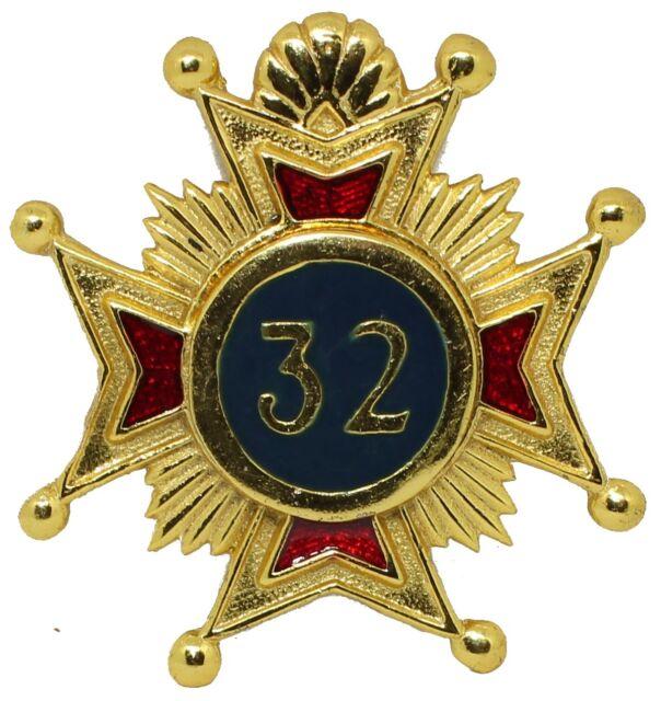 Superb High Quality Masonic Rose Croix 32nd Degree Star Jewel For