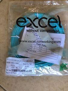 LC-to-LC-Multimode-Fiber-Cable-28-Meter-OM3-50-125-Aqua
