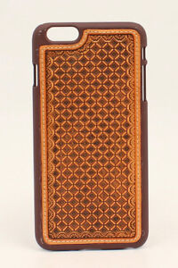 iPhone-6-or-6Plus-Cover-LEATHER-INSERT-Protective-Case-Hardback-Western-Cowboy
