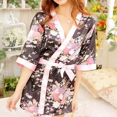 Sexy Lady's Lingerie Sleepwear Robe Japanese Kimono Costume Nightgown Uniform