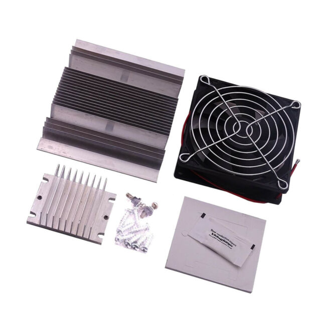Thermoelectric Peltier Refrigeration Cooling System DIY Kit Cooler Fan