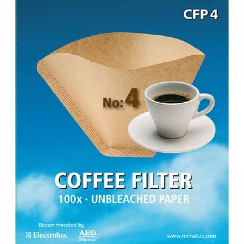 Menalux CFP4 100x filtri carta N.4 macchina caffè americano universali eco