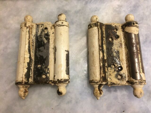 Vintage Large Barn Door Hinges Spring Loaded double action saloon bar heavy duty