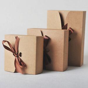 Details Sur 30 Pcs Kraft Papier Emballage Boite Cadeau Ruban Bonbons Gateau Cuisson Mariage