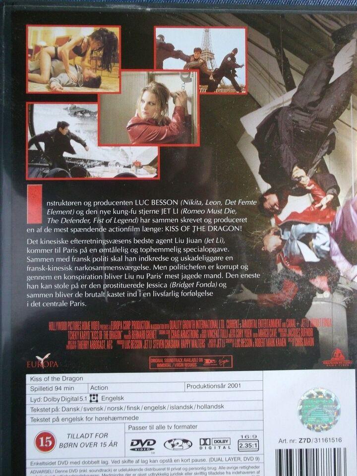 Kiss Of The Dragon, instruktør Luc Besson, DVD