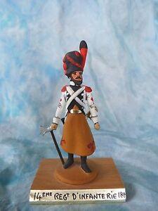 Soldat De Plomb Guy Renaud 1er Empire - 14e Rgt D'infanterie 1814 Jouet Soldat