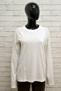 Maglia-LEVIS-Donna-Taglia-L-Maglietta-Shirt-Woman-Manica-Lunga-Cotone-Bianco
