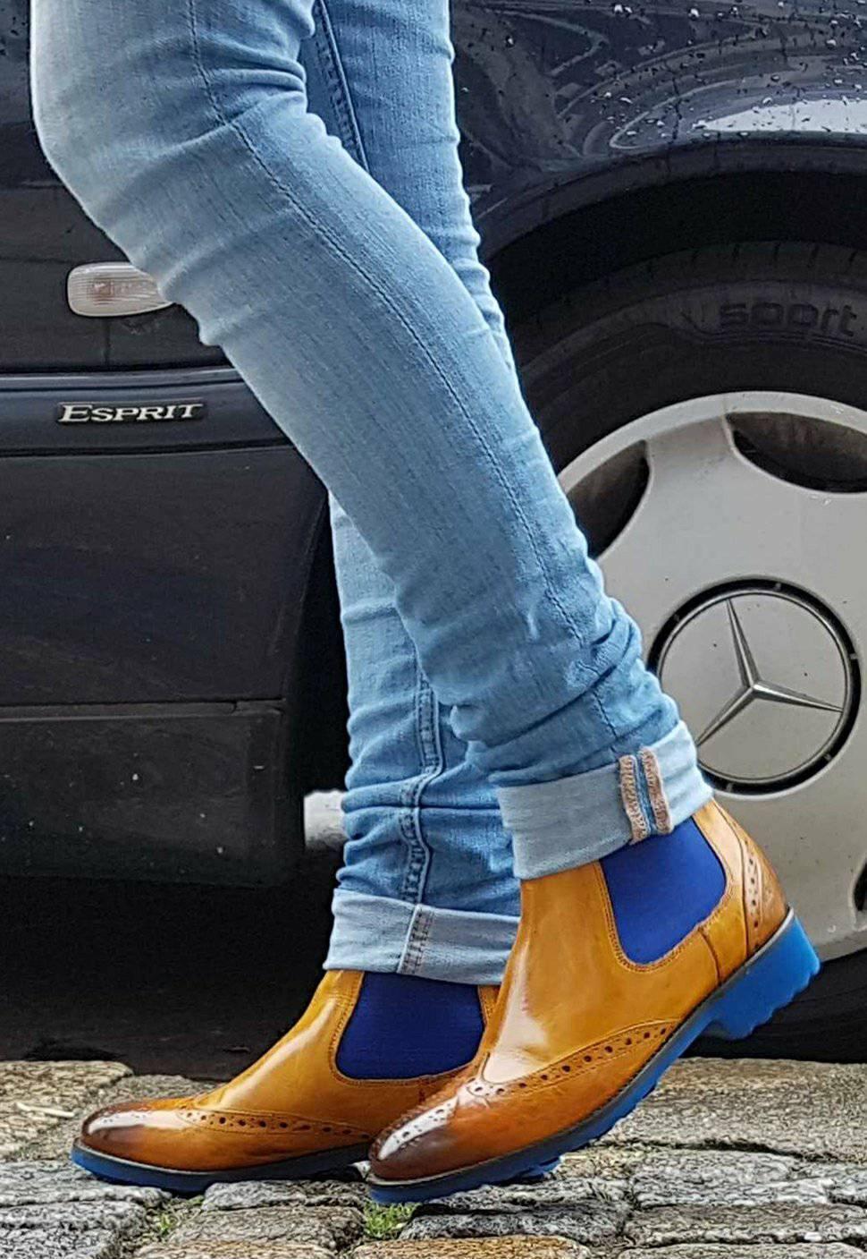 Descuento de la marca Melvin & Hamilton zapatos chelsea Boots nuevo amelie 5 Yellow amarillo nuevo Boots cuero genuino damas 179c0d