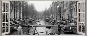 Huge-3D-Panoramic-Amsterdam-Canal-Window-View-Wall-Stickers-Mural-317