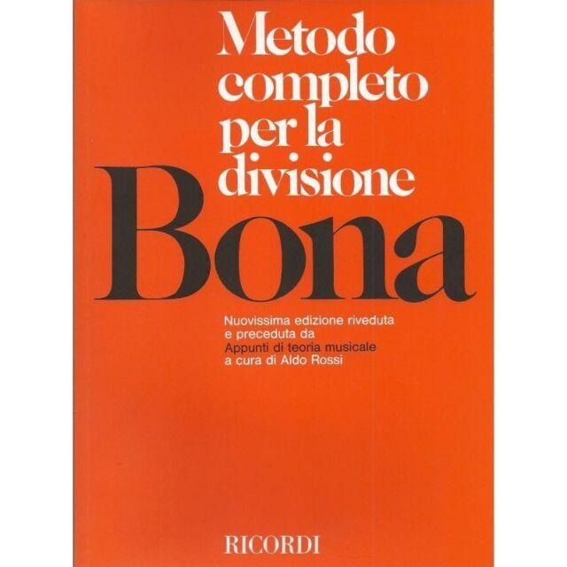 Bona - Metodo completo per la divisione Ed. Ricordi