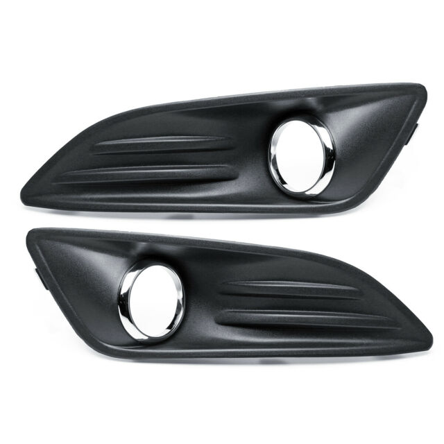 Front Left Right Bumper Fog Light Lamp Cover Grille Grill 2014 For Ford Fiesta