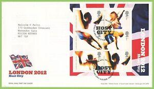 Graham-Brown-2005-Juegos-Olimpicos-de-Londres-2012-m-s-Royal-Mail-primer-dia-cubierta-tallents-House