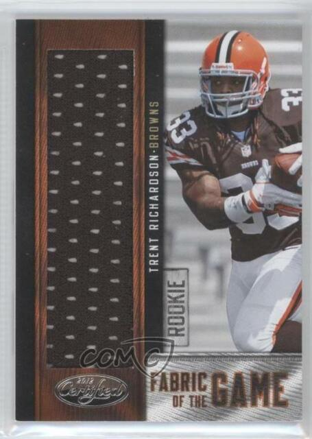 2012 Certified Fabric of the Game Footballs //10 Robert Turbin #28 Rookie