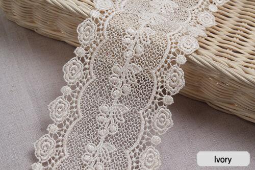 "9.5cm YH1084 laceking2013 1yds Broderie Anglaise Vintage Venice lace trim 3.7/"""