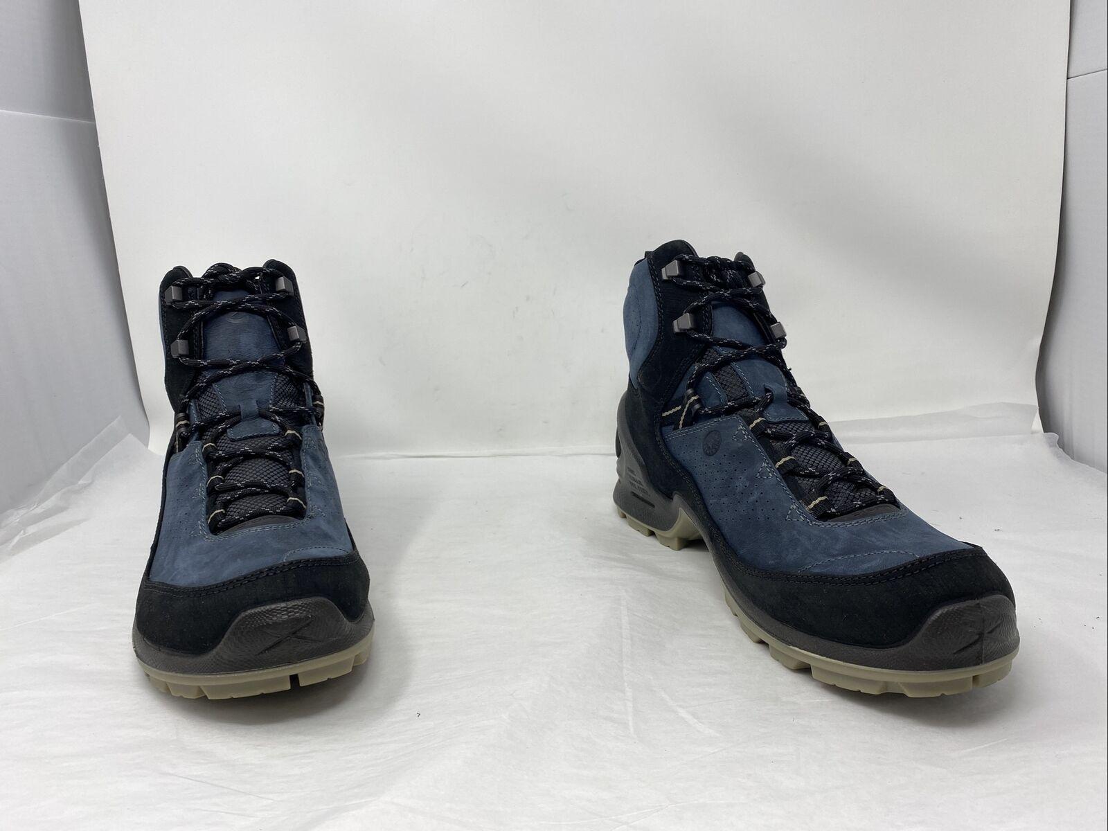 ECCO Mens Biom Terrain WP Hiking Boot Black/Blue/Grey Size 11M-11.5M US