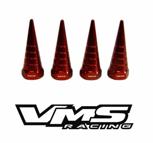 VMS BILLET ALUMINUM RED H22 H22A VTEC VALVE COVER SPIRAL SPIKE NUTS BOLTS 8 PCS