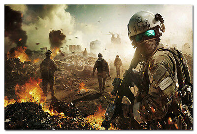 "Battlefield BF 1 4 Military War Game Silk Fabric Poster Art Print 13x20 24x36/"""