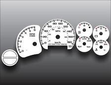 1999-2002 Chevrolet Silverado Gas METRIC KPH KMH Dash Cluster White Face Gauges