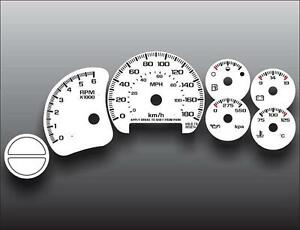 1999-2002-Chevrolet-Silverado-Gas-METRIC-KPH-KMH-Dash-Cluster-White-Face-Gauges