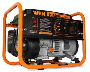 WEN 56155 1,550-Watt Quiet Portable Gas Powered Generator Home Backup RV Camping