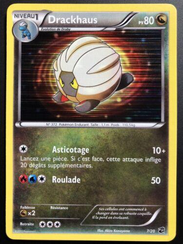 Carte Pokemon DRACKHAUS 7//20 Holo Promo Coffre des Dragons FR NEUF