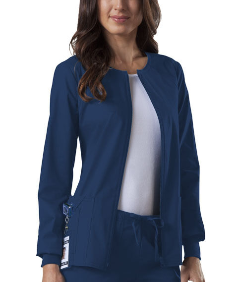 Scrubs Cherokee Workwear Core Stretch Jacket 4315 Galaxy Blue FREE SHIPPING!!!