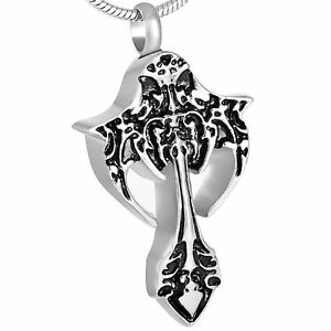 stainless steel biker gothic cremation pendant urn jewelry. Black Bedroom Furniture Sets. Home Design Ideas
