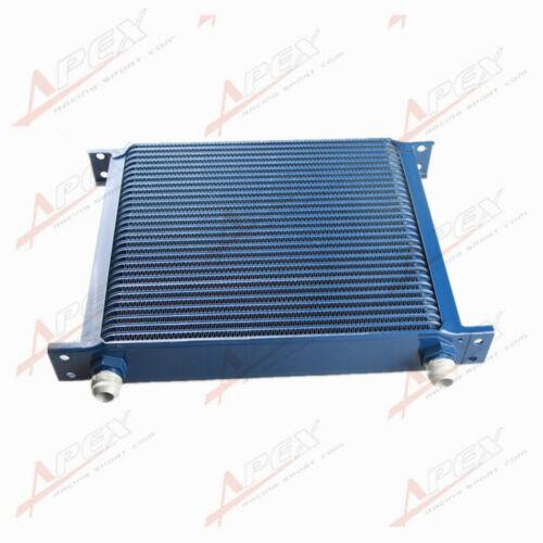 Universal 30 Row 10AN AN-10 AN 10 Engine Transmission Oil Cooler Blue